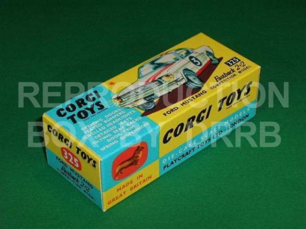 Corgi #325 Ford Mustang 2+2 Fastback - Reproduction Box